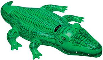 Фото - Надувная игрушка-наездник Intex 168х86см ''Крокодил'' от 3 лет 58546 батут intex 203х69см 3 6 лет 48267