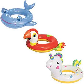 Надувной круг для плавания BestWay Животные от 3 до 6 лет круг надувной bestway лодочка 69 х 102 см розовый