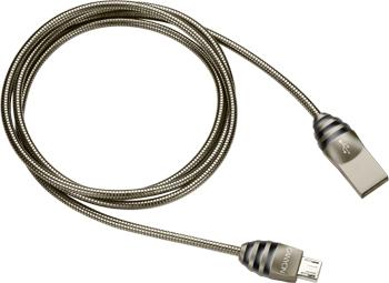 Кабель Canyon CNS-USBM5DG MicroUSB Металл кабель canyon cne usbm1b microusb черный