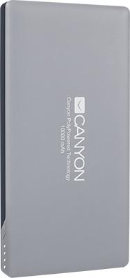 Внешний аккумулятор Canyon CNS-TPBP 10 DG Серый canyon cns tpbp10w white внешний аккумулятор 10000 мач