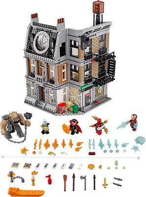 Конструктор Lego SUPER HEROES ''Решающий бой в Санктум Санкторум'' конструктор lego решающий бой человека паука против скорпиона 125 элементов 10754