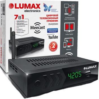Цифровой телевизионный ресивер Lumax DV 4205 HD черный