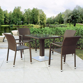 Комплект мебели Афина T 606 SWT/A 2001 B-W 53 Brown 4Pcs цены