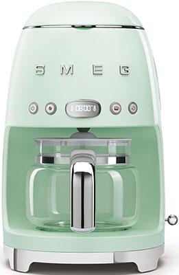 Кофеварка Smeg DCF02PGEU пастельный зеленый тостер на 4 ломтика smeg пастельный голубой tsf03pbeu