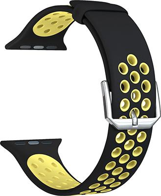 Ремешок для часов Lyambda для Apple Watch 42/44 mm ALIOTH DS-APS01-21-44-YL Black/Yellow цены онлайн