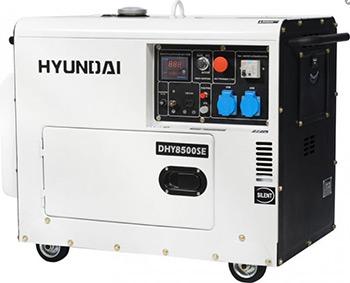 Электрический генератор и электростанция Hyundai DHY 8500SE hyundai matrix расход топлива