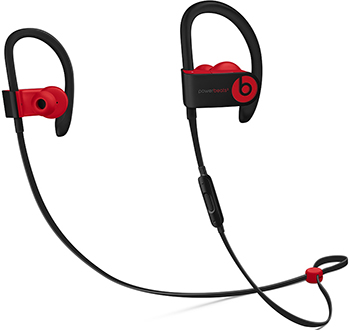 Вставные наушники Beats Powerbeats3 коллекция Beats Decade цвет «дерзкий чёрно-красный» MRQ92EE/A цена и фото