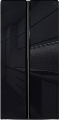 Холодильник Side by Side Ginzzu NFK-462 черное стекло холодильник ginzzu nfk 510 gold glass
