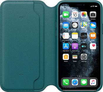 Кожаный чехол Apple iPhone 11 Pro Leather Folio - Peacock MY1M2ZM/A пряжа veniard pro dub yarn pearl peacock