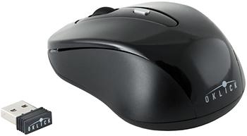 Мышь Oklick 435MW черный оптическая (1600dpi) беспроводная USB (3but) фото