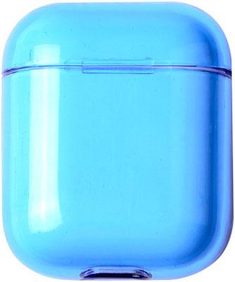 Фото - Чехол для наушников Apple AirPods 1/2 - Прозрачно-Синий (CBAP24TRBL) кармен синий кпб сатин 1 6 sofi de marko кармен синий кпб сатин 1 6
