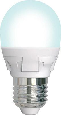 Лампа светодиодная Uniel LED-G45-7W/4000K/E27/FR/DIM PLP01WH диммируемая Форма «шар» мато