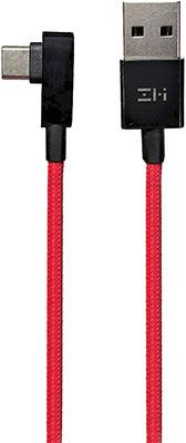 Фото - Кабель Xiaomi USB/Type-C ZMI 150 см (Г-образный) (AL755) ТЕХПАК красный кабель xiaomi zmi al701 usb type c 100cm white