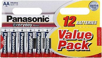 Батарейки Panasonic щелочные AA Everyday Power multi pack в блистере 12 шт. ( LR6REE/12BW LR6REE/12HH) (LR6REE/12HH)