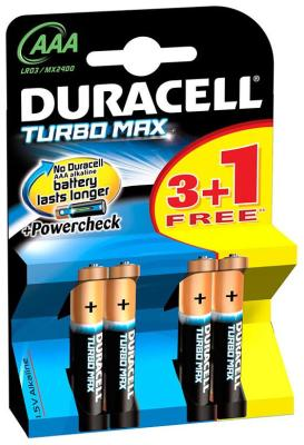 Батарейка Duracell LR 03/MX 2400-4BL TURBO MAX аккумулятор 850 mah duracell hr03 4bl aaa 4 шт