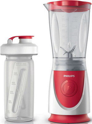Блендер Philips HR 2872/00 Daily Collection красный/белый food processor philips daily collection hr7627 00