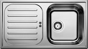 Кухонная мойка BLANCO FLEX mini нерж. сталь матовая мойка blanco flex mini 511918 размер шхд 78см х 43 5см