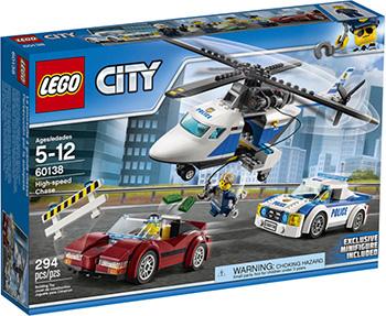 Конструктор Lego City Полиция Стремительная погоня 60138 конструктор lego city погоня в горах 303 элемента 60173