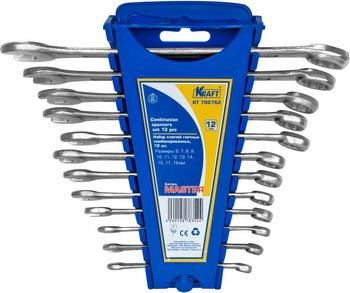 Набор комбинированных ключей Kraft Master KT 700762 набор комбинированных ключей kraft master с держателем 9 предметов