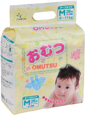 Подгузники Omutsu M (6-11 кг) 26 шт. цена в Москве и Питере