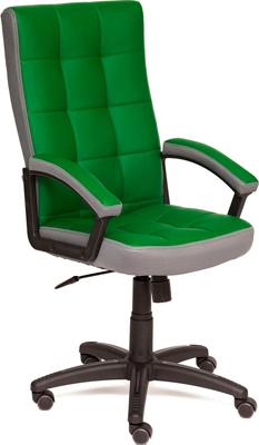 Кресло Tetchair TRENDY (кож/зам/ткань зеленый/серый 36-001/12)