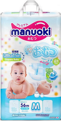 Подгузники Manuoki Ultrathin M 6-11 кг 56 шт JPM 006 цена 2017