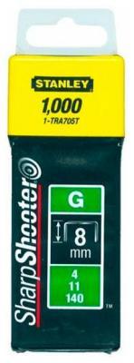 Скоба для степлера Stanley 8 мм тип ''G'' (4/11/140) 1000шт 1-TRA 705 T скоба rapid 140 8 2м proline
