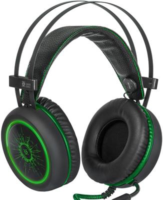 Игровая гарнитура Defender DeadFire G-530 D черный зеленый цена и фото