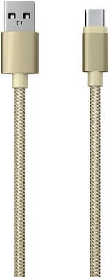 Кабель Red Line USB-Type-C 2.0 нейлоновая оплетка золотой red line дата кабель usb type c 2 0 black нейлоновая оплетка