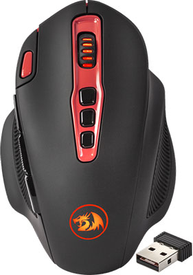 Беспроводная игровая мышь Redragon Shark 2 15м 10 кнопок 5000dpi