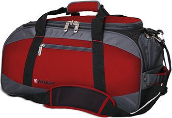 Сумка спортивная Wenger красный/серый/чёрный полиэстер 1200D 52х25х30 см 39 л 52744165 сумка для фитнеса kalenji сумка спортивная легкоатлетическая 50 л черная