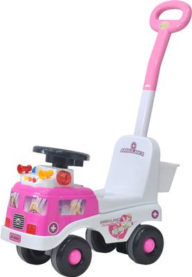 Детская каталка Everflo ''Скорая помощь'' ЕС-902Р pink с родительской ручкой everflo каталка everflo машинка smart car m001 pink