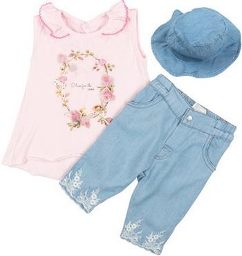 Комплект Bebetto рост 74 розовый комплект для девочки cherubino цвет светло розовый серый 5 предметов can 9407 размер 74