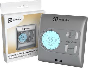 Сменная панель для терморегулятора Electrolux ETA-16 серебристая сменная панель e rp 100 red для вентилятора electrolux