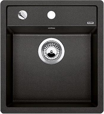 Кухонная мойка BLANCO DALAGO 45-F SILGRANIT антрацит с клапаном-автоматом кухонная мойка blanco dalago 45 f silgranit темная скала с клапаном автоматом