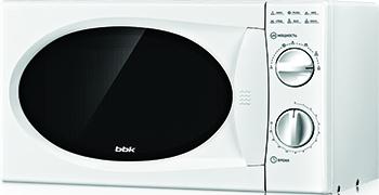 Микроволновая печь - СВЧ BBK 20 MWS-715 M/W (соло) белый цена и фото
