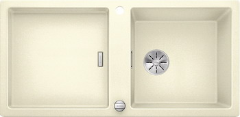 Кухонная мойка Blanco ADON XL 6S SILGRANIT жасмин с кл.-авт. InFino 523609 кухонная мойка blanco zenar 45 s чаша слева белый с кл авт infino