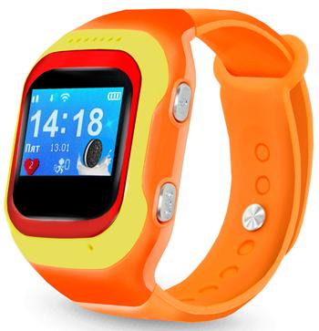 Детские часы-телефон Ginzzu 14224 501 orange 0.98'' micro-SIM детские часы телефон ginzzu 16139 505 black 1 22 touch micro sim