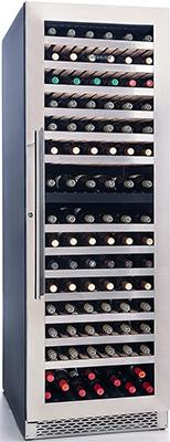 Встраиваемый винный шкаф Cavanova CV 180 DT черный серебристая дверца