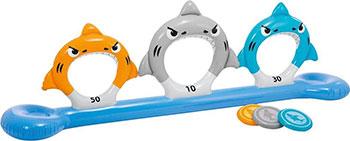 Фото - Мишень надувная Intex Акулы от 6 лет 57501 батут intex 203х69см 3 6 лет 48267