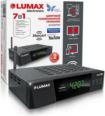 Цифровой телевизионный ресивер Lumax DV 4207 HD черный lumax dv3205hd черный
