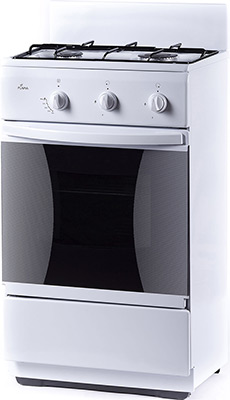 Комбинированная плита Flama СK 2202 W белый электрическая плита flama 33606 w