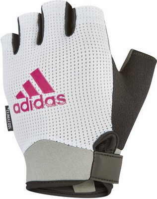 Перчатки Adidas White - M ADGB-13244 перчатки park полиэстер полиуретан размер m
