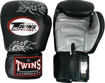 цена Перчатки боксерские Twins 14 oz черный с серебрянными драконами FBGV-6S-14 онлайн в 2017 году