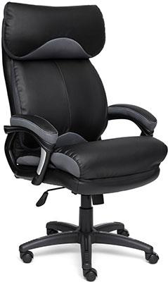 Кресло Tetchair DUKE кожа рециклированная/ткань черный/серый TW-12
