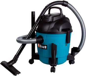 Строительный пылесос Bort BSS-1218 пылесос bort bss 1415 aqua 1400 вт