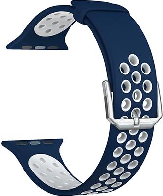 Фото - Ремешок для часов Lyambda для Apple Watch 42/44 mm ALIOTH DS-APS01-21-44-BW Blue/White защитное стекло skinbox apple watch 38mm