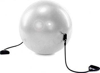 Фото - Мяч для фитнеса Bradex ФИТБОЛ-65 с эспандерами SF 0216 мяч для фитнеса bradex фитбол 75 с насосом sf 0187