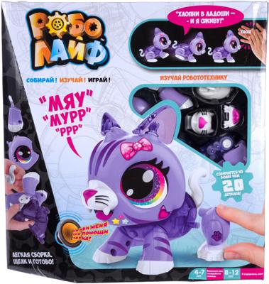 цена Игрушка 1 Toy РобоЛайф Котенок интерактивный (модель для сборки) со звук. эффект. 2*АА бат (не входят) 30х28х5 5 Т онлайн в 2017 году
