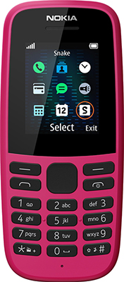 Мобильный телефон Nokia 105 SS (ТА-1203) Pink/розовый